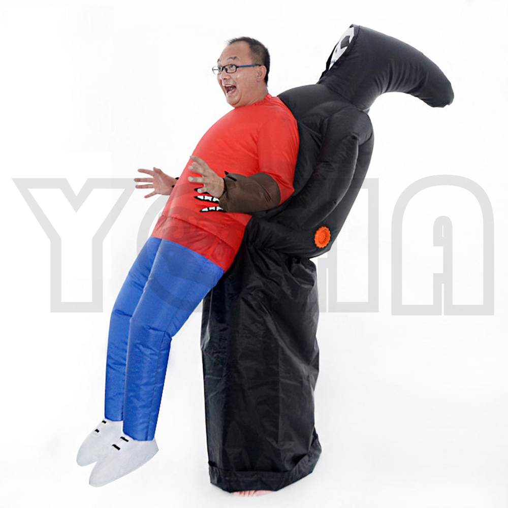 Adult Fantasy Ghost Inflatable Costume Skeleton Anime Fancy Dress Suit Party Grim Reaper Halloween Costumes For Kids Women Man