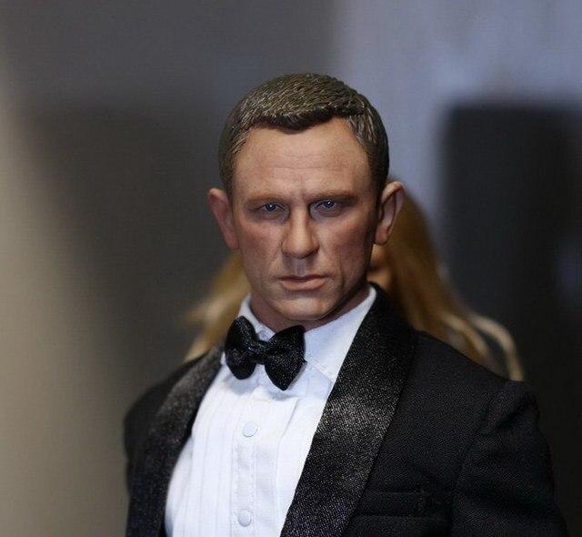 """1/6 масштаб рисунок форма головы для 12 """" фигурку куклы джеймс бонд 007 дэниел крейг куклы голова, Не включают тела и одежда"""