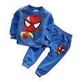 NEW spiderman kids boys clothing sets children's clothes long sleeve cartoon casual hoody+ pants 2 pcs baby boys tees sport suit
