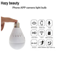 Hazy Beauty 360 Degree Fisheye WiFi IP Camera Bulb 960P HD Panoramic Wireless Camera Nanny Camera