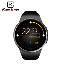 Купить с кэшбэком GFT kw18 smart watch sim 1.3 inch round smart watch sim+TF card support better than gv18 gt08 smart watch gt08 gv18