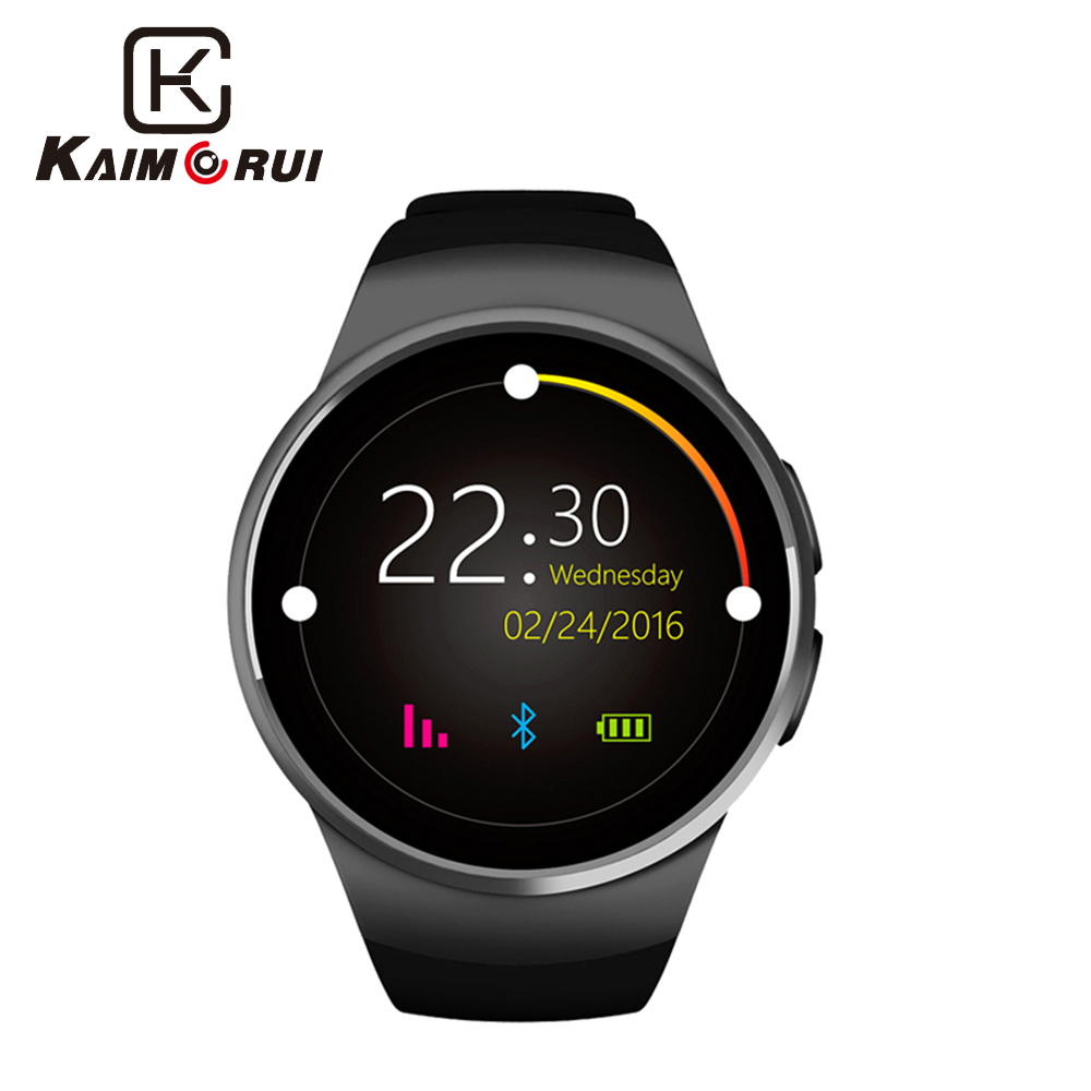 Kaimorui Smart Watch Passometer Monitor Hjärtfrekvenssupport Smartwatch för IOS Android Bluetooth Smart Klockor