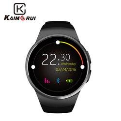 Kaimorui montre intelligente hommes passomètre moniteur fréquence cardiaque téléphone montre carte SIM pour IOS Android Bluetooth montre intelligente