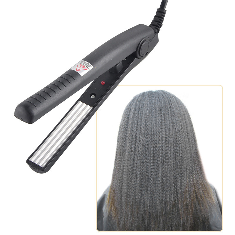 Electric Hair Straightener straightening Corrugated Iron Hair Crimper Corn Plate Mini Ripple Corrugation Styling Tools