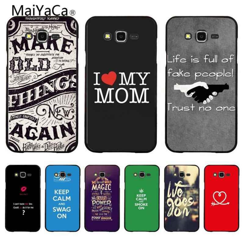 Фото MaiYaCa рукописные слова Новинка чехол для телефона Fundas Крышка samsung Galaxy S7 S6 S5 S4 S3 S3Mini