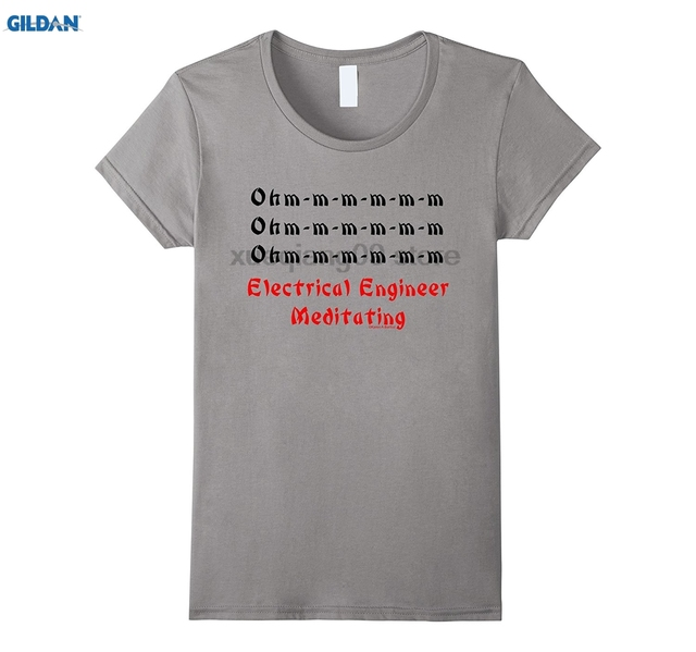 1a36b1e2 GILDAN Electrical Engineer Meditating Funny Engineering T Shirt-in T ...