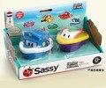 2015 mais novo de água Do Banho Do Bebê Sassy Brinquedos/2 PCs/pacote Crianças Jogar Água Barcos De Inspirar A Imaginação da cidade do porto, frete grátis