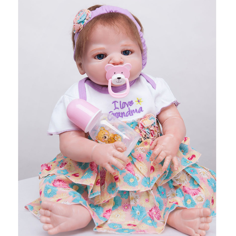 55cm Full Silicone Reborn Baby Doll Toy Real Touch Newborn Princess Toddler Babies Alive Bebe Doll With Pacifier Girl Bonecas55cm Full Silicone Reborn Baby Doll Toy Real Touch Newborn Princess Toddler Babies Alive Bebe Doll With Pacifier Girl Bonecas