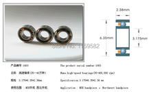 ABEC-7 Z3V3 high speed Dental handpiece bearing SR144 TLN Si3N4 BALLS 3.175 * 6.35*2.38 high speed dental bearing