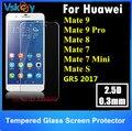 20 unids 2.5d 0.3mm protector de pantalla de cristal templado para huawei mate 9 pro mate 8 7 gr5 2017 mini mate s mate2 mate película protectora