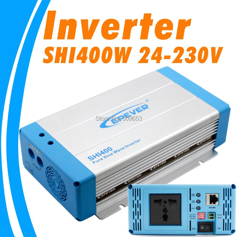 400W EPEVER Inverter SHI400W-24 24V Pure Sine Wave Solar Inverter 24Vdc to 220Vac Off Grid Inverter Australia European DC to AC 1500w 24vdc to 220vac pure sine wave inverter with 10a ac charge for solar panel