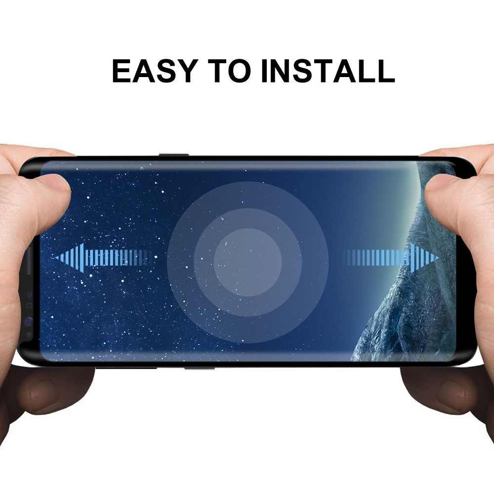 Versión pequeña 3D Borde de vidrio templado curvado para Samsung Galaxy S8 funda protectora de pantalla cristal amigable para S8 Plus S8plus