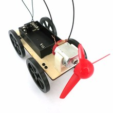 FEICHAO Wind Car Small DIY Science and Technology Model Popular Science Assembled Toys Creative Novelty Gifts