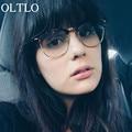 OLTLO Новый 2017 Полу-Без Оправы для очков Очки Рамка Optiacl Очки Женщины Мужская Высокой Моды Линзы Очки Óculos де золь мужчины