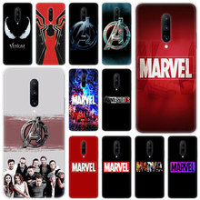 Hot Marvel The Avengers logo Soft Silicone Fashion Transparent Case For OnePlus 7 Pro 5G 6 6T 5 5T 3 3T TPU Cover