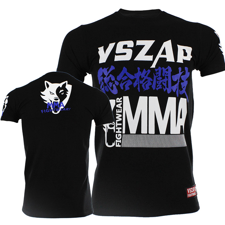 VSZAP Mixed Martial Arts Men T Shirt Short Sleeve Coach Clothes Fitness Fight Customized Wulin Wind Thai Boxing.