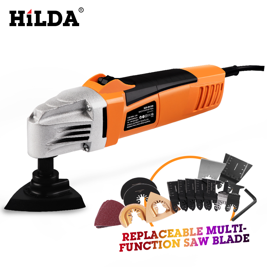 HILDA rénovateur multi-outils électrique multifonction Kit d'outils oscillants multi-outils outil électrique tondeuse électrique accessoires de scie