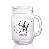 Unique Beautiful Font For Mason Bottle Cool Wedding Gifts High Capacity Glass Mason Jars Hot Fashion