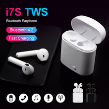 Factory Quality Sale I7s Tws Wireless Bluetooth Earphone Stereo Earbud Headset With Charging Box Mic All Smart Phone for all pod