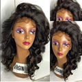 2016 New!!Virgin Brazillian Lace Front Wig Human Hair Full Lace Wig 150 Density With Baby Hair Blenched Knots For Black Women