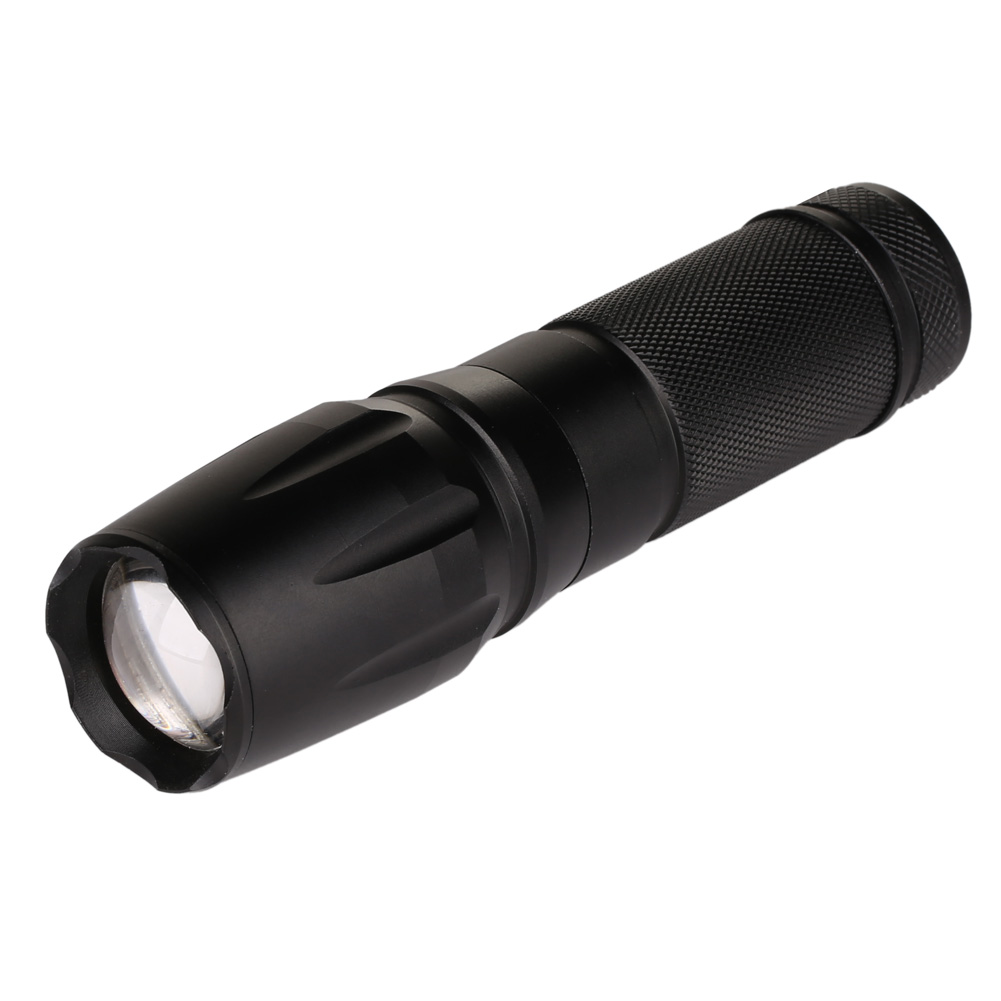7 Modes 5000LM XML T6 LED 5-Modes 18650/26650 Zoomable Flashlight Torch Focus Light Lamp Torche Lampe Torche Militaire Black high quality 28000lm 15x xml t6 led flashlight 5 modes torch 26650 18650 camping lamp light
