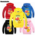 New Kids Pokemon Go Hoodies Boys Girls Cotton Long Sleeve T shirts 2-9Y Children's Character Casual Tops Kids Clothes SC746