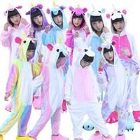 Unicorn Romper Anime Animal Onesie For Kids Children Halloween Christmas Party Girl Boy Fleece Flannel Cosplay