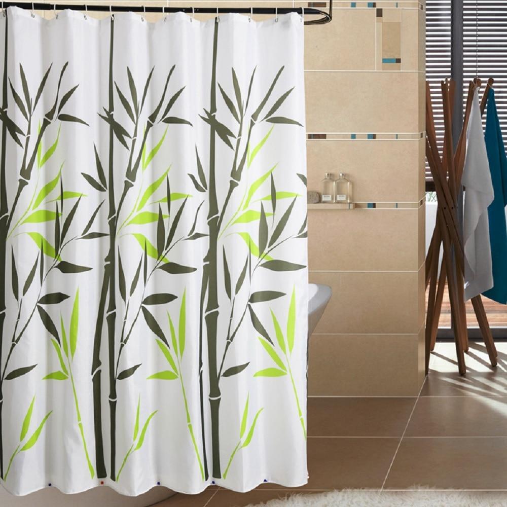 Good Online Shop Bathroom Bath Shower Curtain Bathroom Polyester Waterproof  Fabric Printed Green Bamboo Shower Curtain For Bathroom Free Shipping |  Aliexpress ...