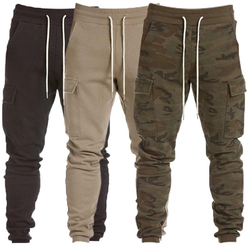 Pantalones de Hombre de camuflaje pantalones Cargo pantalones de chándal tácticos hombres Joggers Gyms Harem pantalones de entrenamiento Delgado Fitness bolsillos Hombre Pantalon