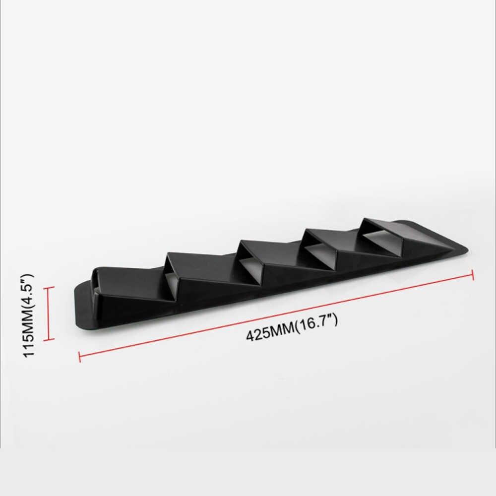 2 шт. автоматический Автомобильный Универсальный вытяжка вентиляционная решетка охлаждающая отделка Набор Черный ABS Refit воздухозаборник панель
