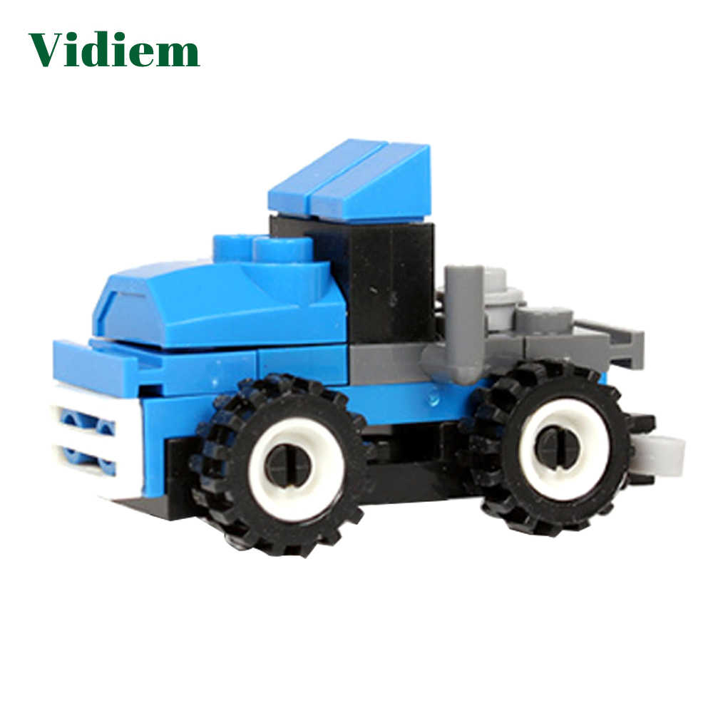 Vidiem Small Bricks Early Educational Toys Building Blocks Legoing Friends Compatible Car Series Sets For Kids