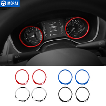 MOPAI Car Interior Dashboard Instrument panel Decoration Ring Cover Stickers for Jeep Compass 2017 Up Car Accessories Styling
