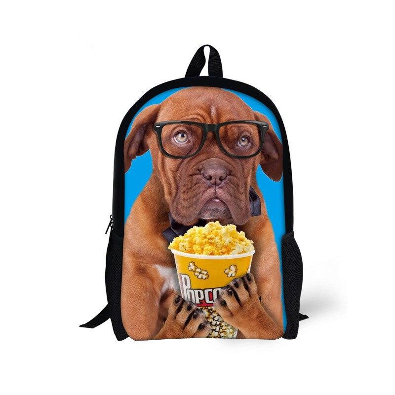 3D Animal Printing Backpacks lovely dog Backpacks for Teenager Boys Man Traveling Bagpack