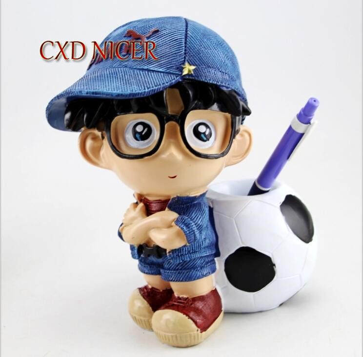 Japanese Anime Pen Holder School Chancery Clever Boy Stand For Pens Pencil Box School Chancery Container Stationery Dd1772