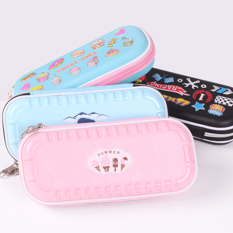 1pc Large Capacity Children Student Pencil Case Creative Simple Pen Pencil Bags with Zipper for Girls and Boys Gift Stationery big capacity high quality canvas shark double layers pen pencil holder makeup case bag for school student with combination coded lock