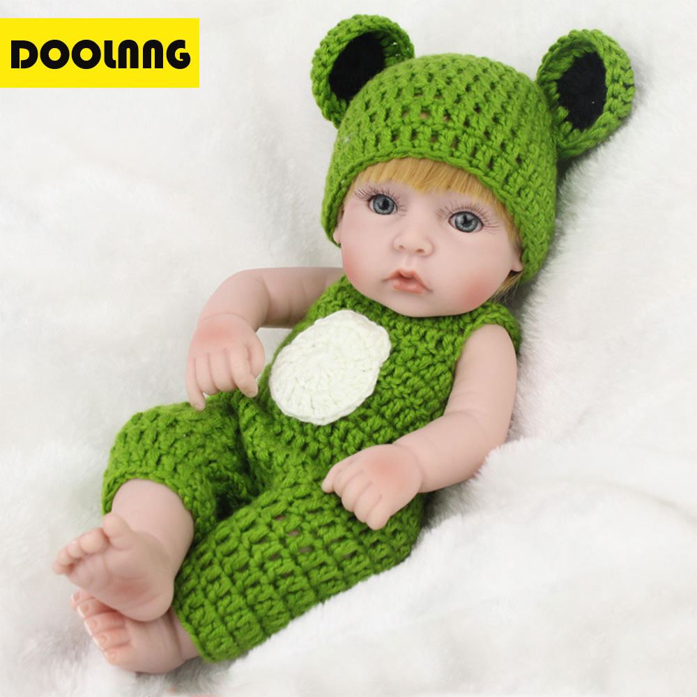 DOOLNNG Soft Body Silicone Reborn Baby/Doll Lifelike Newborn Toy Acrylic Eyes Practice Bathe/Wear Clothes Partner Toys DL-W01 the flower arranging expert