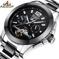 AESOP Fashion Men Watch Men Ceramic Sapphire Crystal Automatic Mechanical Wrist Wristwatch Male Clock Relogio Masculino