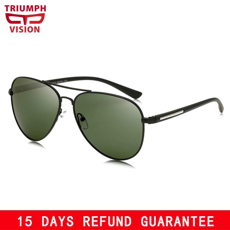 ca309a9916 Detail Feedback Questions about TRIUMPH VISION Sunglasses Male Polarized  Dark Green Lens Sun Glasses for Men UV400 Protection Pilot Shades Oculos  Women on ...