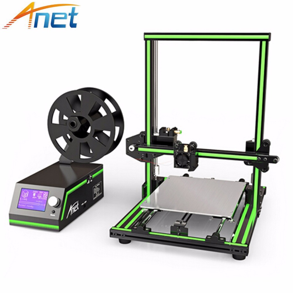 High Speed 3D Printer Reprap Prusa i3 Large Desktop Anet 3D Printers Rapid Prototyping Printing Machine with Cura Software недорго, оригинальная цена