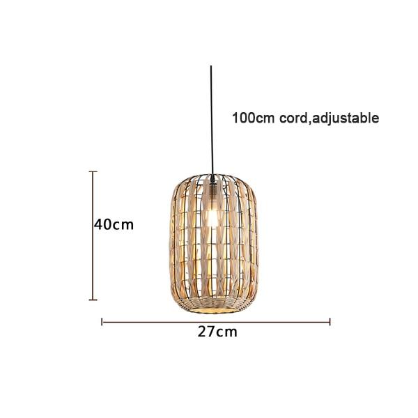 Специальная металлическая Подвесная лампа из ротанга Cany Art E27 подвесной светильник для гостиной спальни столовой внутренней декоративной лампы - Цвет корпуса: Model D D27xH40