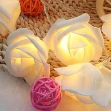 Светодиодный светильник с розами на батарейках для свадьбы дома
