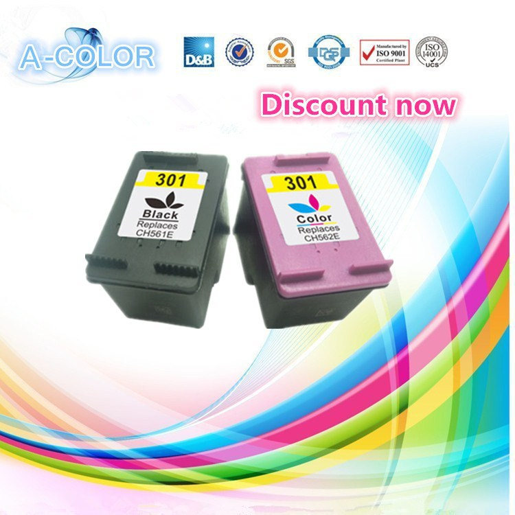 2pcs for hp 301 xl black tri color ink cartridge for hp301 deskjet 1050 - Hp 301 Tri Color Ink Cartridge