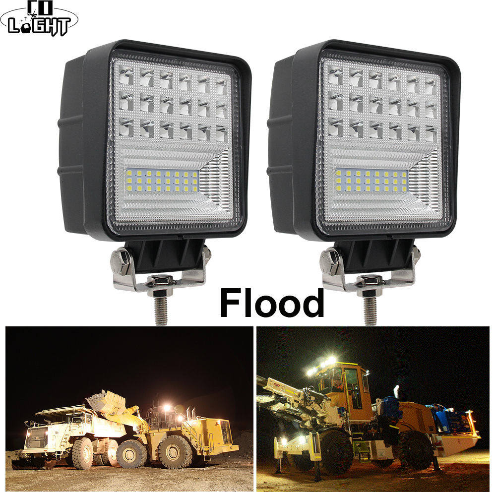 CO LIGHT Off Road Work Light 63W Flood 4.3 Led Fog Lights for Auto ATV Jeep Tractor Truck SUV Boat Led 12V 24V 4X4 AccessoriesCO LIGHT Off Road Work Light 63W Flood 4.3 Led Fog Lights for Auto ATV Jeep Tractor Truck SUV Boat Led 12V 24V 4X4 Accessories