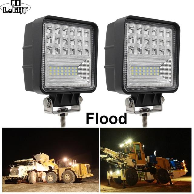 CO LIGHT Off Road Work Light 63W Flood 4.3 Led Fog Lights for Auto ATV Lada Tractor Truck SUV Boat Led 12V 24V 4X4 Accessories