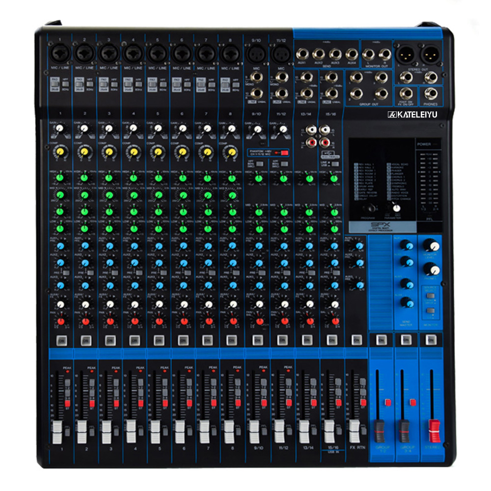 Audio mixing console MG16 analog mixer 16 road small stage professional audio console band commercial speech monitor the effect цены онлайн