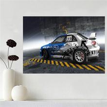 Custom canvas poster print art subaru sti cool car poster cloth fabric wall poster print Silk Fabric Print SQ0511