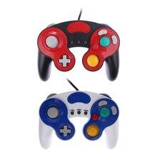 Dual analog joystick Juego de Choque Con Cable Controlador de Vibración rumble wired contorller para Nintendo GameCube NGC Wii del Juego De Vídeo