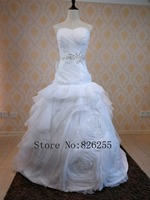 New Arrival Sexy Backless Sweetheart A Line Tulle Wedding Dress Bridal Gowns With Appliques ZH0244 Free