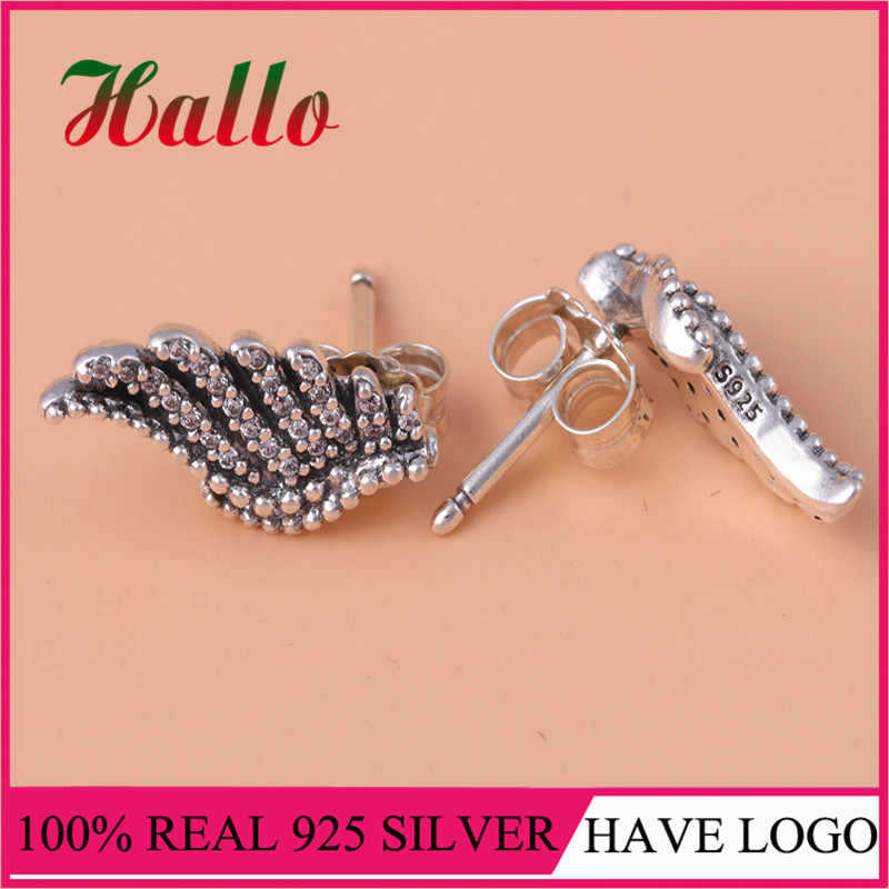 High Quality Real 925 Silver Majestic Feathers Stud Earrings.Fashion Earrings Set for Women Wedding. Wholesale Discounts G