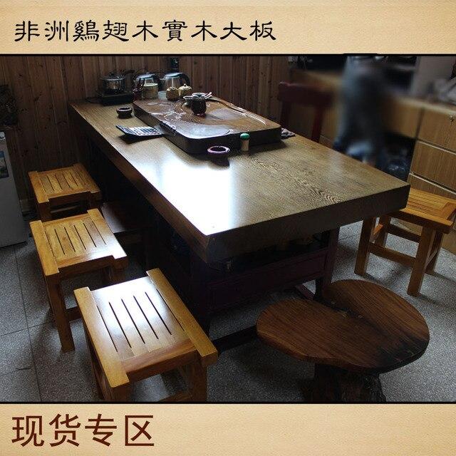 Wenge africano de madera losa original mesa / escritorio / comedor ...